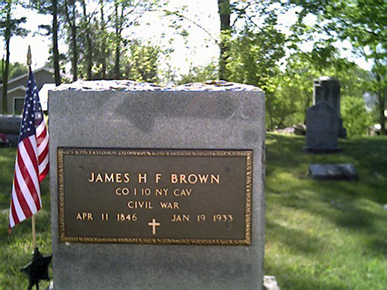 Headstone of James H.F. Brown